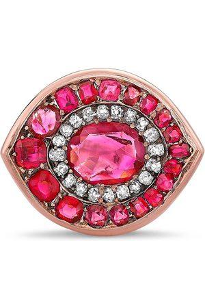 Pragnell Vintage 18kt rose gold Art Deco ruby and diamond ring