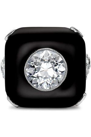 Pragnell Vintage Platinum Art Deco onxy plaque and diamond ring