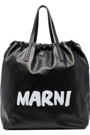 Marni Gusset logo-print backpack