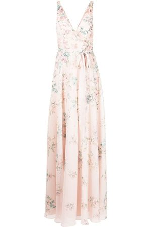 Marchesa Notte Women Party Dresses - Floral-print tulle sleeveless gown