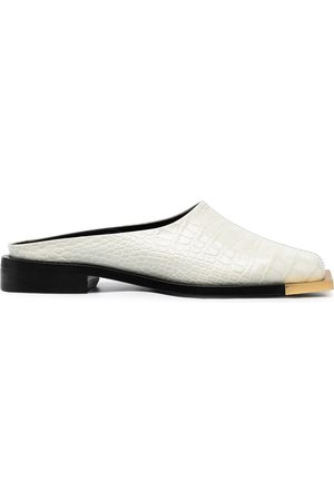 Peter Do Crocodile-embossed leather mules