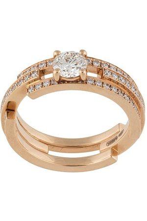 MAISON DAUPHIN 18kt rose full set diamond triple ring