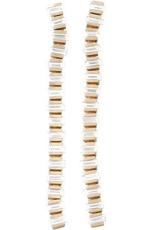 DINA KAMAL Women Earrings - 18kt yellow flexible spine diamond earrings