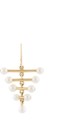 DALILA BARKACHE 18kt yellow Ascending pearl earring