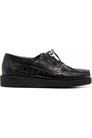 SEBAGO Drawstring croc-effect loafers