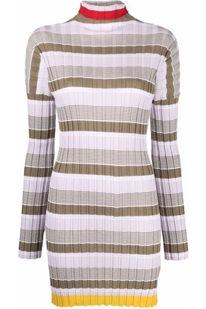 Colville Striped ribbed-knit dress