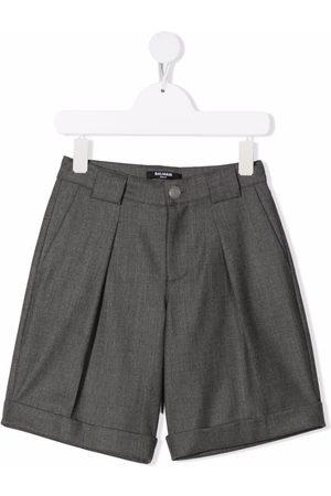 Balmain Boys Shorts - Wide-leg tailored shorts