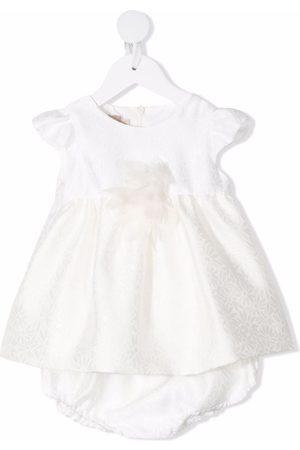 LA STUPENDERIA Jacquard empire-line dress