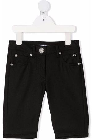 Balmain Cotton-virgin wool blend shorts