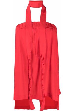 JEJIA Tie-waist silk straight skirt