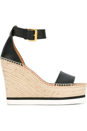 See by Chloé Women Wedged Sandals - Espadrille wedge sandals