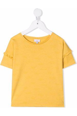 KNOT Ruffle-detail cotton T-Shirt