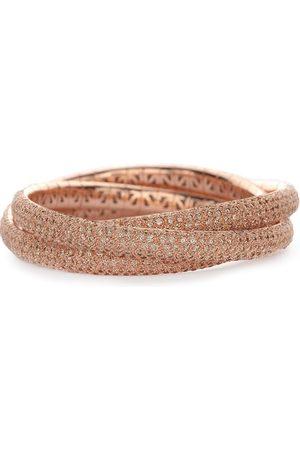 Mattia Cielo 18kt rose gold and titanium Universo cognac diamond triple wrap bracelet