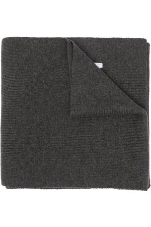 Dsquared2 Men Scarves - Embroidered-logo ribbed-knit scarf