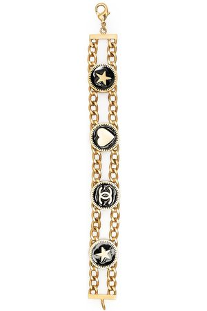 CHANEL Motifs double chain bracelet