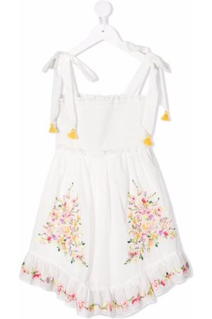ZIMMERMANN Girls Casual Dresses - Mae floral-embroidered cotton dress