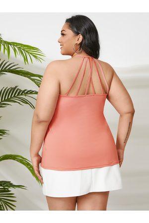YOINS Plus Size Halter Backless Design Criss-Cross Sleeveless Cami
