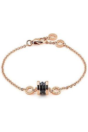 """Bvlgari B.zero1 18K Rose Gold & Black Ceramic Bracelet/7.09"""""""