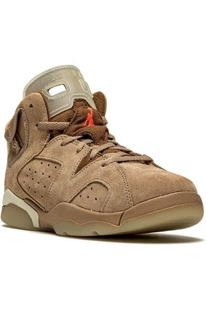 "Jordan Kids X Travis Scott Air Jordan 6 Retro ""British Khaki"" sneakers"