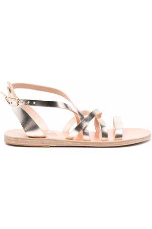 Ancient Greek Sandals Metallic-effect leather sandals