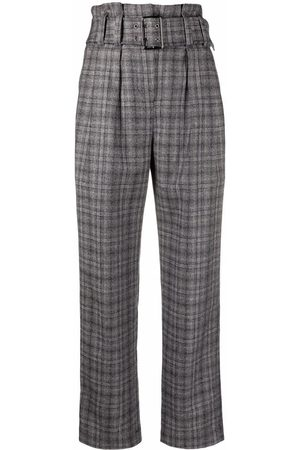 Brunello Cucinelli Prince of Wales high-waisted trousers