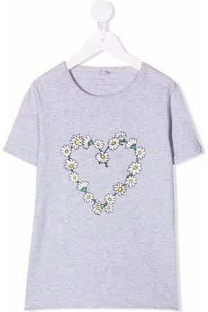 Stella McCartney Daisy-chain heart-print T-shirt