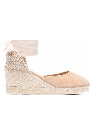MANEBI Low-wedge espadrille sandals