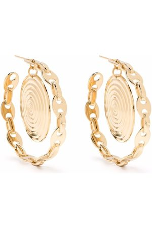 Paco rabanne Disc hoop earrings