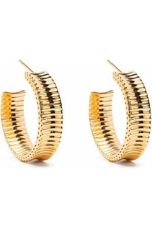 Missoma Medium chunky frill hoop earrings