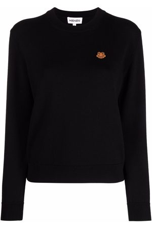 Kenzo Tiger-patch knitted jumper