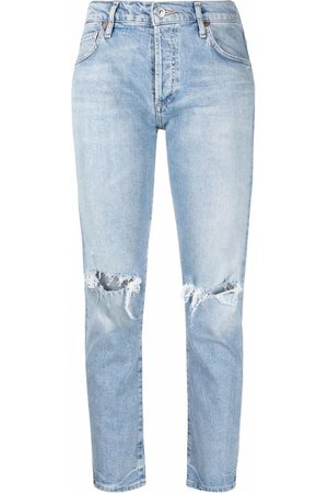 Citizens of Humanity Women Jeans - Charlotte distressed-knee jeans
