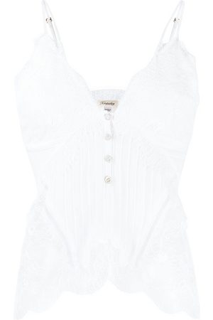 TEMPERLEY LONDON Lace embroidered camisole top