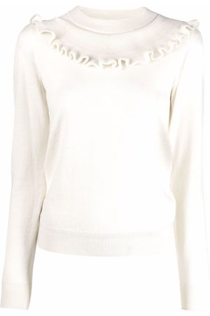 See by Chloé Ruffled-collar knit jumper