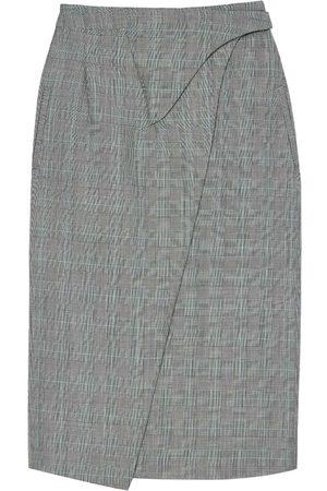 WARDROBE.NYC Wrapped-midi merino skirt