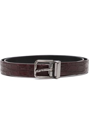 Dolce & Gabbana Alligator skin buckled belt
