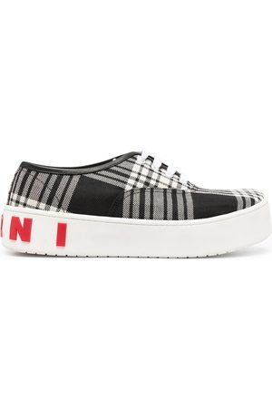 Marni Check print lace-up sneakers