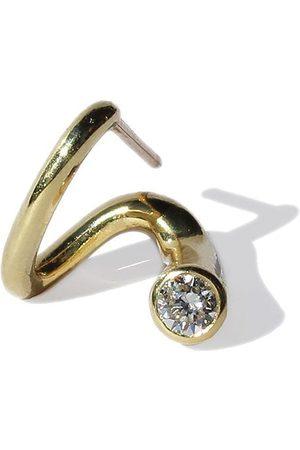 Kat Kim Women Earrings - 18kt yellow Peak diamond single earring
