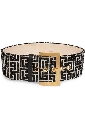Balmain Large Monogram Jacquard Belt