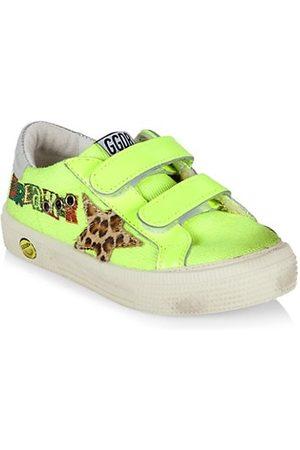 Golden Goose Girls School Shoes - Little Girl's May Neon School Sneakers