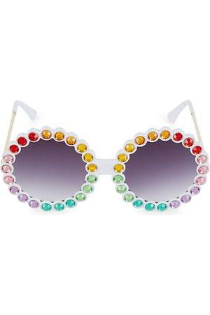 Bari Lynn Girls Sunglasses - Girl's Round Crystal Sunglasses