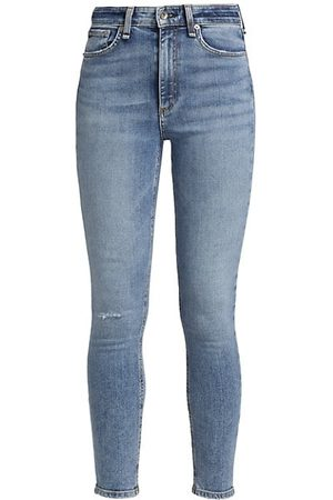 RAG&BONE Women Skinny - Nina High-Rise Ankle Skinny Jeans