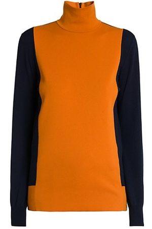 Plan C Women Jumpers - Colorblock Turtleneck Sweater