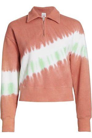 RE/DONE 70s Tie-Dyed Half-Zip Sweatshirt