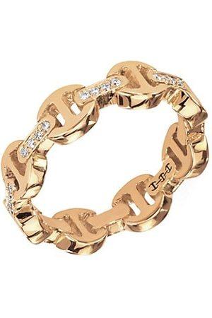 HOORSENBUHS Dame Tri-Link 18K Yellow & Diamond Ring