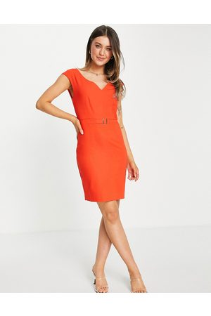 Morgan Pencil dress with belt detail in
