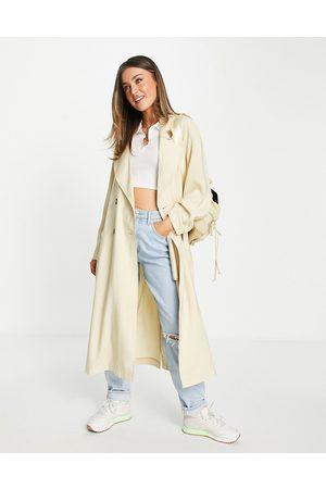 ASOS Oversized trench coat in cream