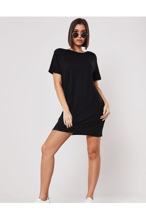 Missguided Basics t-shirt dress with cross back in