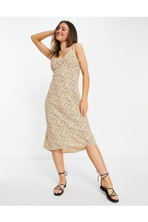 Abercrombie & Fitch Midi slip dress in floral