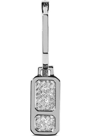 AS29 18kt white gold DNA pave diamond earrings