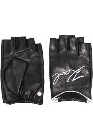 Karl Lagerfeld Karl Signature leather gloves